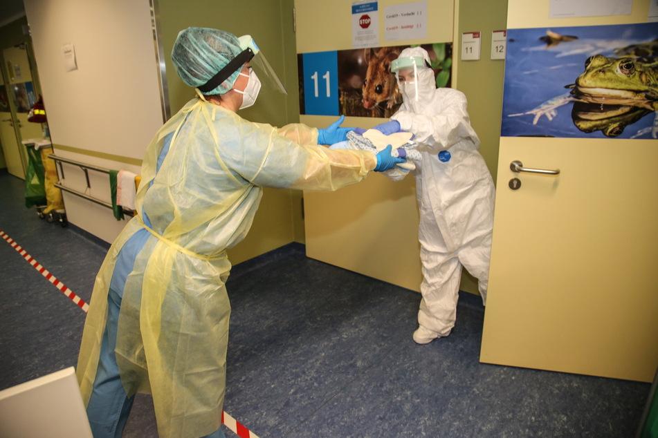 Bundeswehr-Fachkräfte aus Weißenfels unterstützen bereits im Städtischen Klinikum Görlitz.
