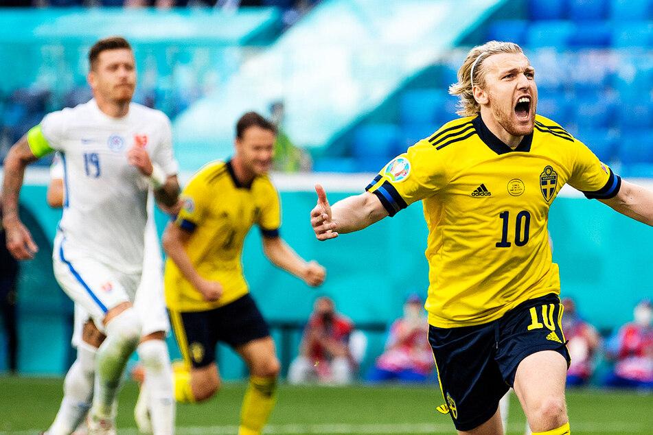 Nach grausiger 1. Hälfte: RB-Star Emil Forsberg lässt Schweden gegen Slowakei jubeln!