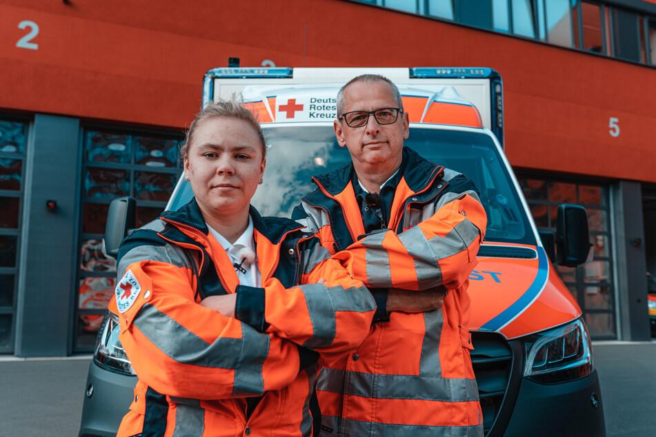 Sindy ist seit 2015 Notfallsanitäterin, Petro bereits seit 1992.