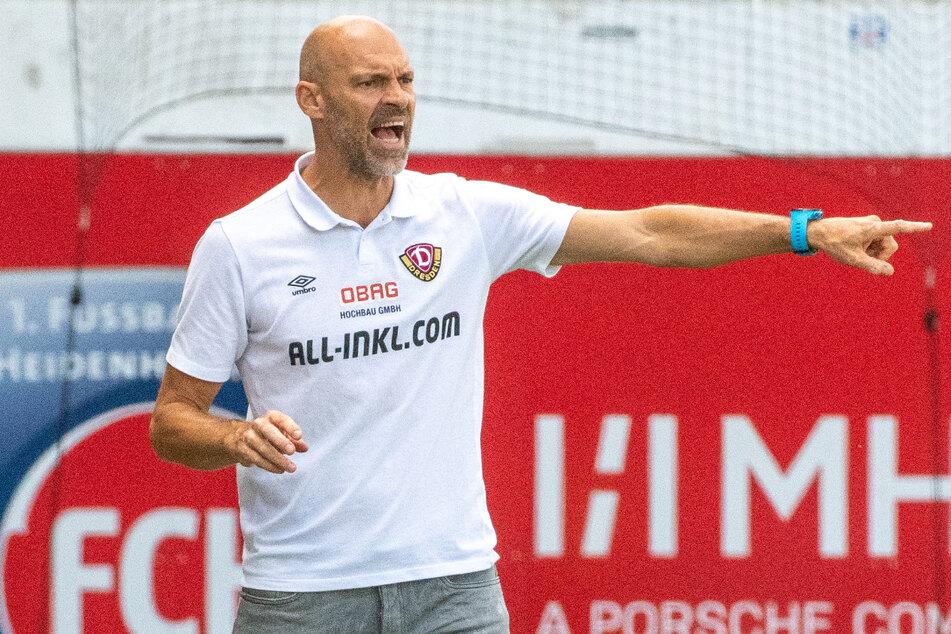War nach der Pleite in Heidenheim bedient, weil seine Mannschaft zu viele Fehler machte: Dynamo-Trainer Alexander Schmidt.