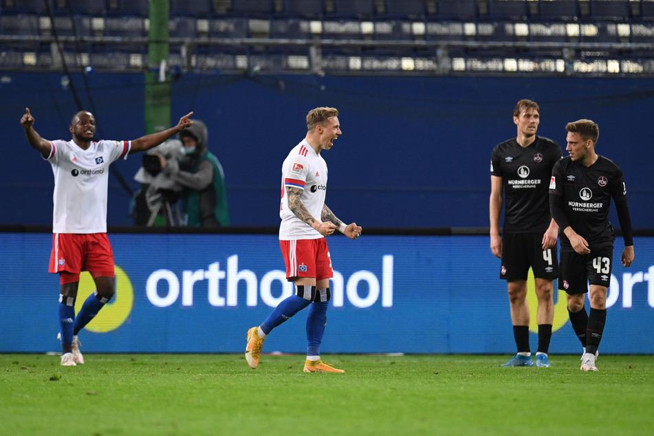 """Der Offensivakteur (2.v.l.) könnte mit seinen herausragenden Fähigkeiten in dieser Saison der """"Unterschiedsspieler"""" des HSV werden. (Archivfoto)"""