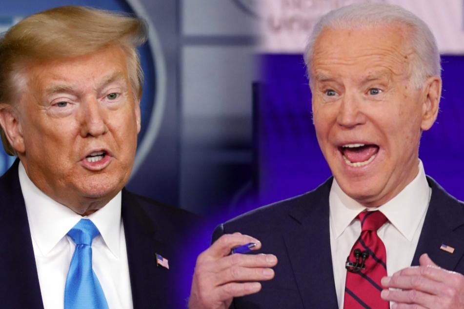 Präsident Trump (73) und Joe Biden (77) dürften sich einen erbitterten Wahlkampf liefern.