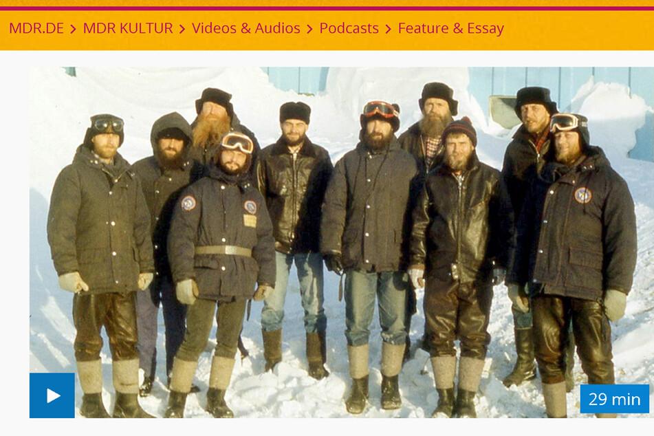 Seit Jahren forschen Wissenschaftler - auch diese 12 DDR-Experten arbeiteten in der bis Antarktis.