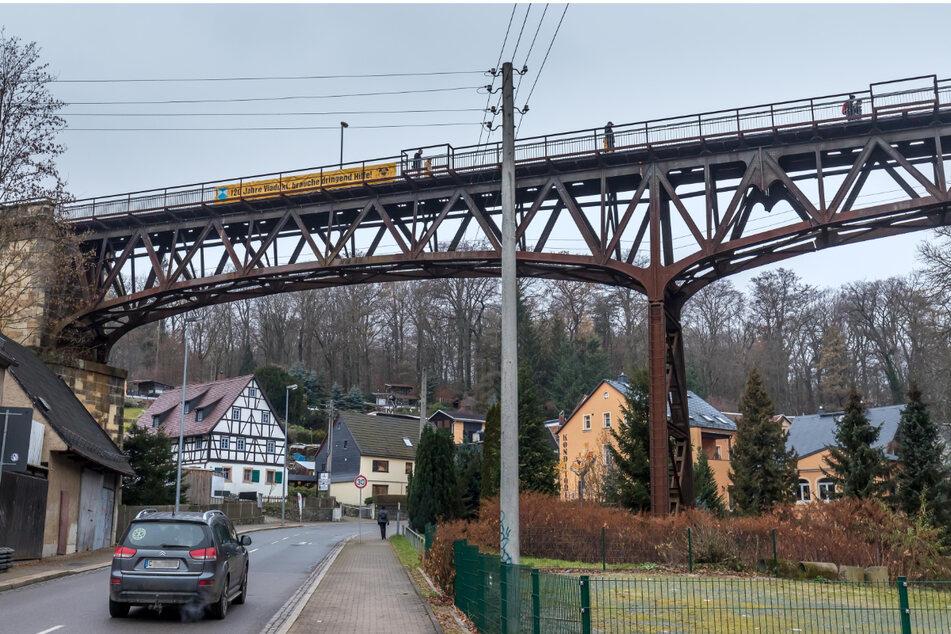 Chemnitz: Viadukt Rabenstein: Wieso wird das Gerüst wieder abgebaut?