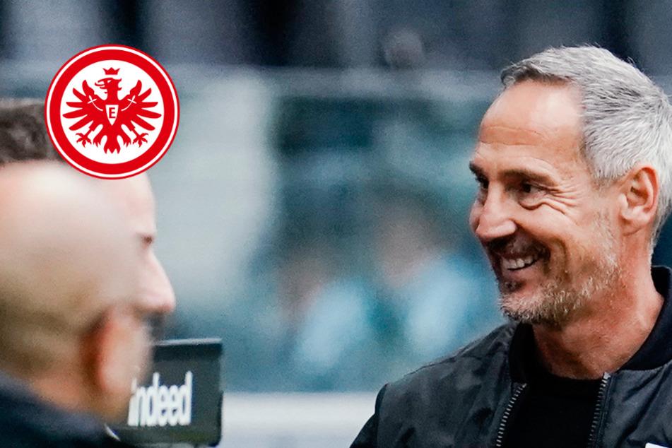 Vor Bayern-Spiel: Eintracht-Trainer Hütter hofft auf sein starkes Offensiv-Trio