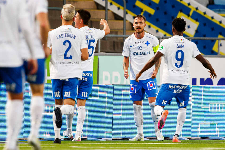 Der Kapitän macht den Unterschied: Ex-Dynamo Linus Wahlqvist (24, 2.v.r.) schoss den IFK Norrköping zum knappen Heimerfolg.