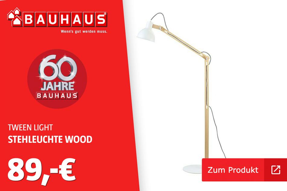 """Stehleuchte """"Wood"""" für 89 Euro."""