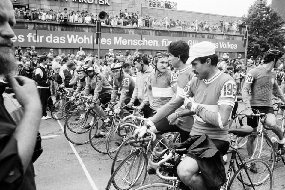 So sah die Friedensfahrt 1986 aus - damals noch in Karl-Marx-Stadt.