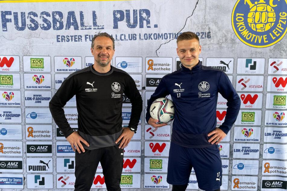 Edvarda Lucenka (24, rechts) hat seinen Vertrag bei Lok Leipzig verlängert und bleibt den Probstheidaern noch mindestens bis Juni 2022 erhalten.