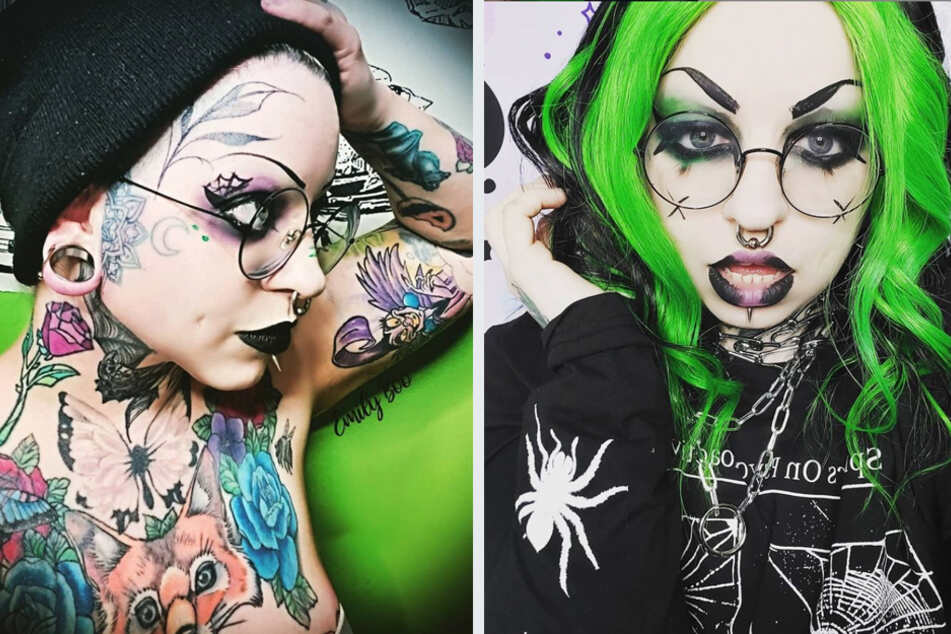 """Emily Boo's husband and daughter were in for a shock when she was transformed from a goth into an """"Instagram girl""""."""