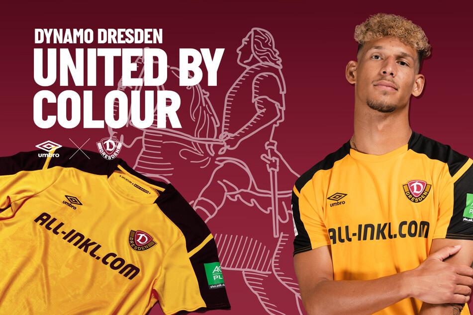 So sieht das neue Heimtrikot der SG Dynamo Dresden aus.
