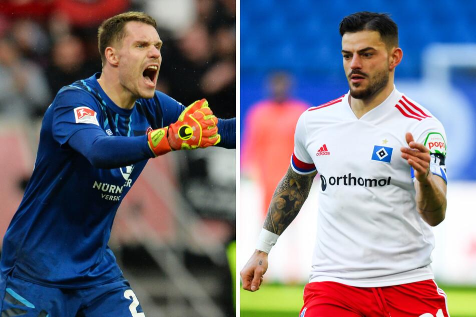 FCN-Keeper Christian Mathenia (29, l.) und Hamburgs Linksverteidiger Tim Leibold (27) treffen jeweils auf ihren Ex-Klub.