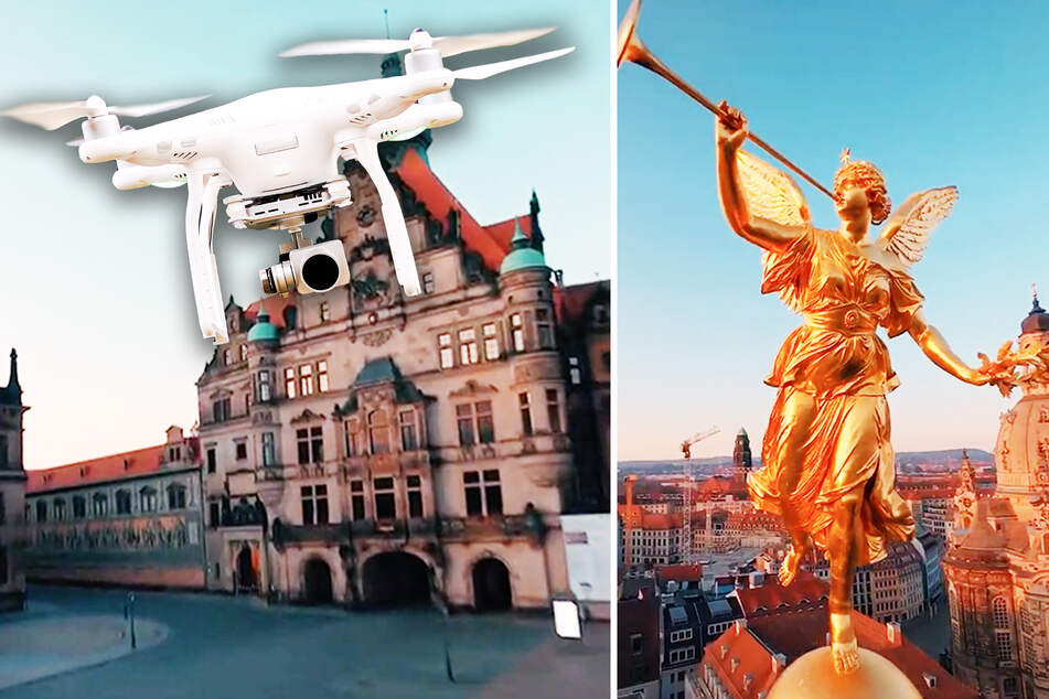 Bei diesem spektakulären Drohnen-Video aus Dresden stockt Dir der Atem
