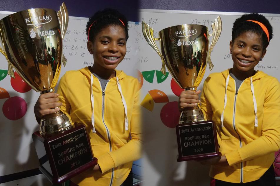 Zaila Avant-garde won the 2021 Scripps National Spelling Bee on Thursday (collage).