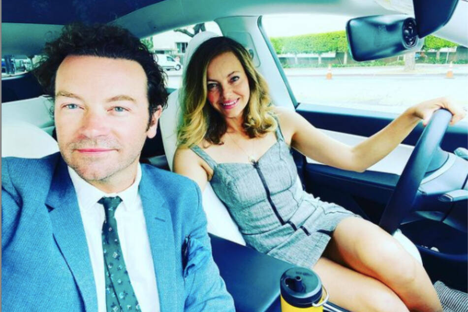 Danny Masterson (l.) shared a recent photo with his wife Bijou Phillips on Instagram, with whom he shares a daughter.
