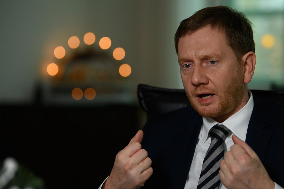 Michael Kretschmer (CDU), Ministerpräsident von Sachsen, betrachtet die Polarisierung im Freistaat mit Sorge.