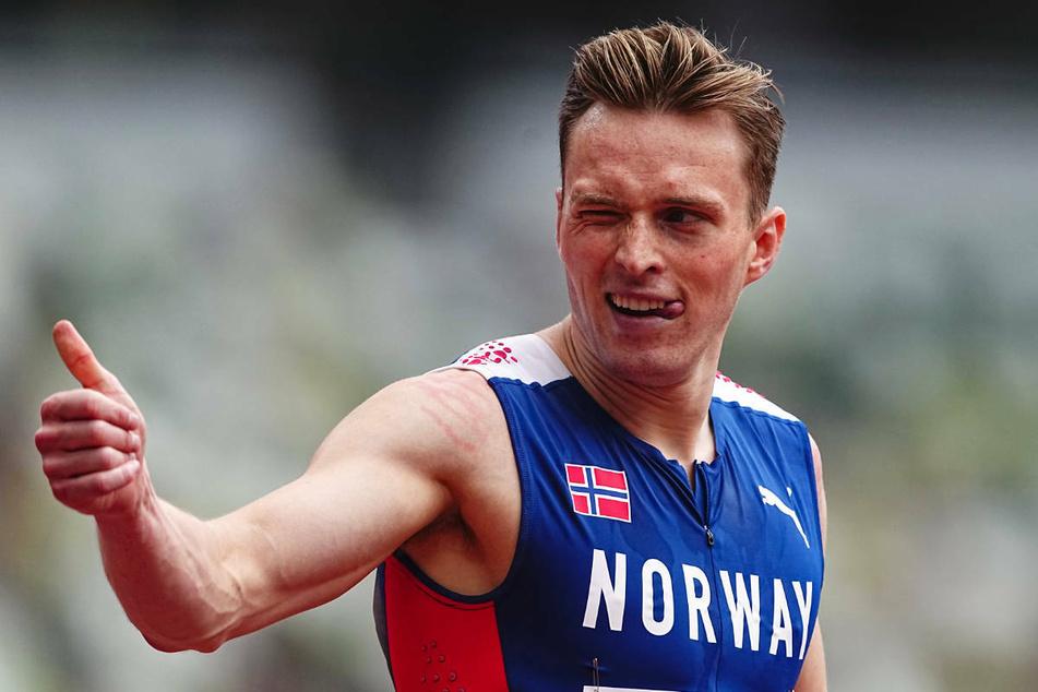 Daumen hoch! Hürden-Weltrekordler Karsten Warholm (25) hat seine Teilnahme am diesjährigen ISTAF in Berlin zugesagt.