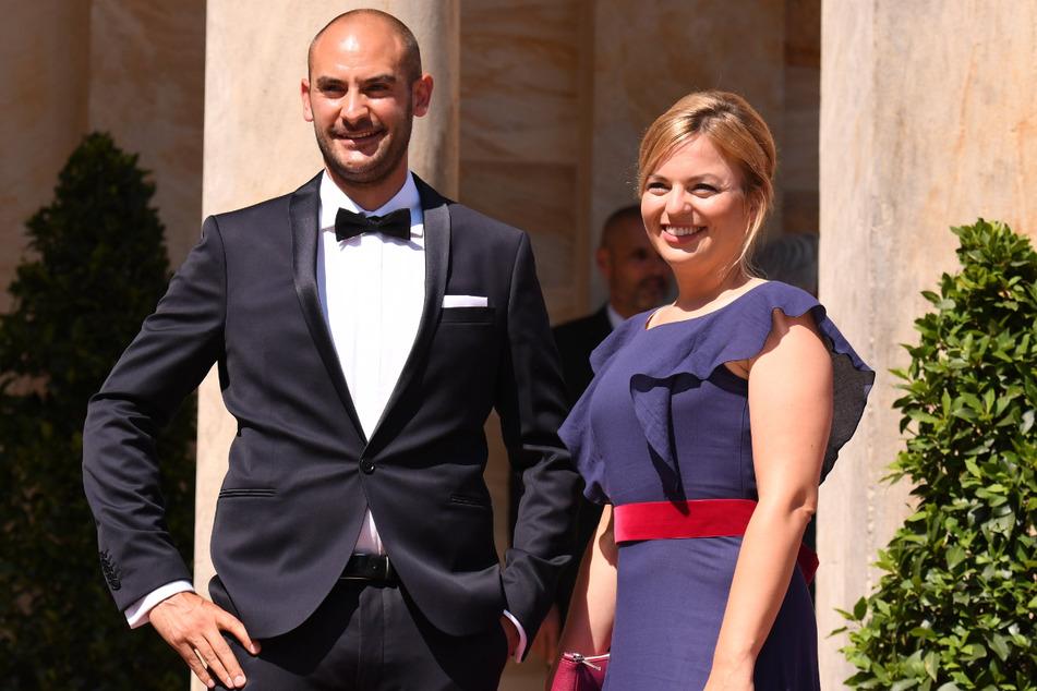 Danyal Bayaz (37) mitsamt seiner Partnerin Katharina Schulze (36, beide Grüne).