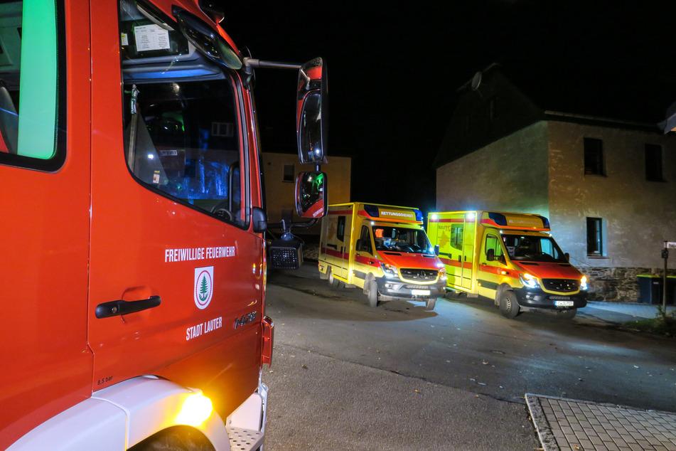 Die Feuerwehren waren mit 27 Einsatzkräften in Lauter im Einsatz.