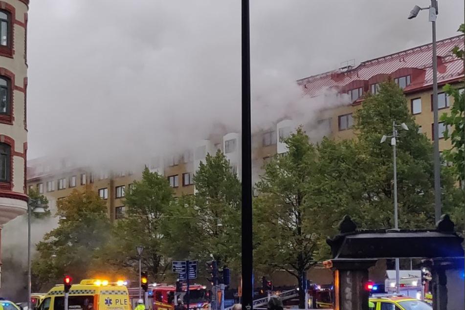 In einem Mehrfamilienhaus in Göteborg explodierte es am frühen Dienstagmorgen.