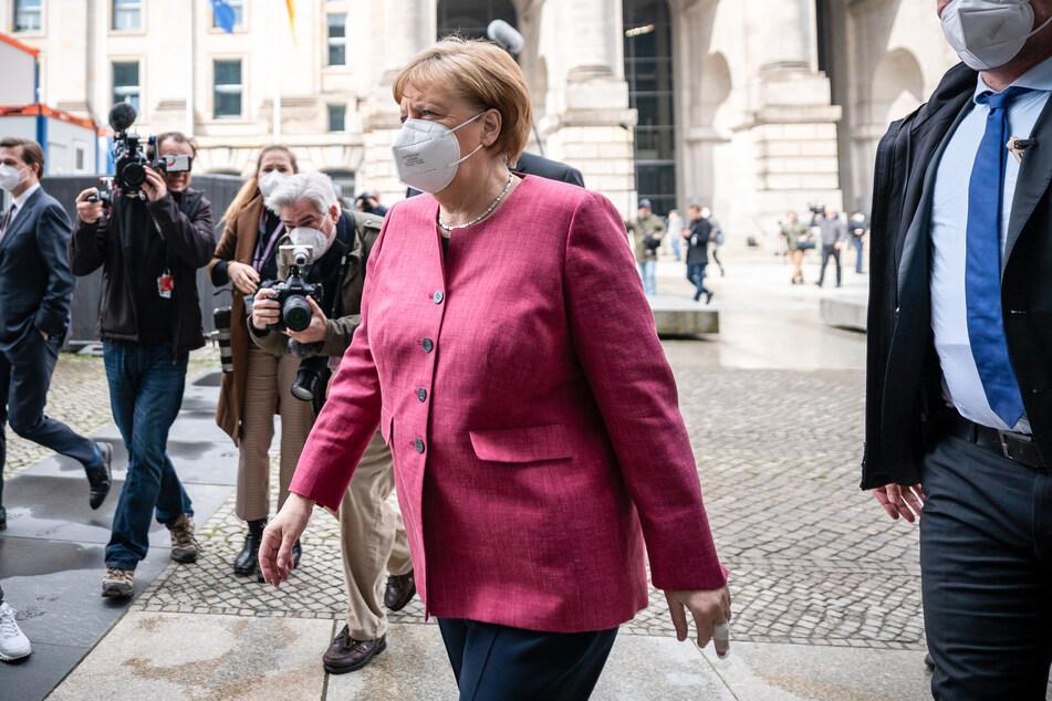Bundeskanzlerin Angela Merkel (CDU) kommt zur Klausurtagung des Geschäftsführenden Vorstands der Unionsfraktion im Bundestag.