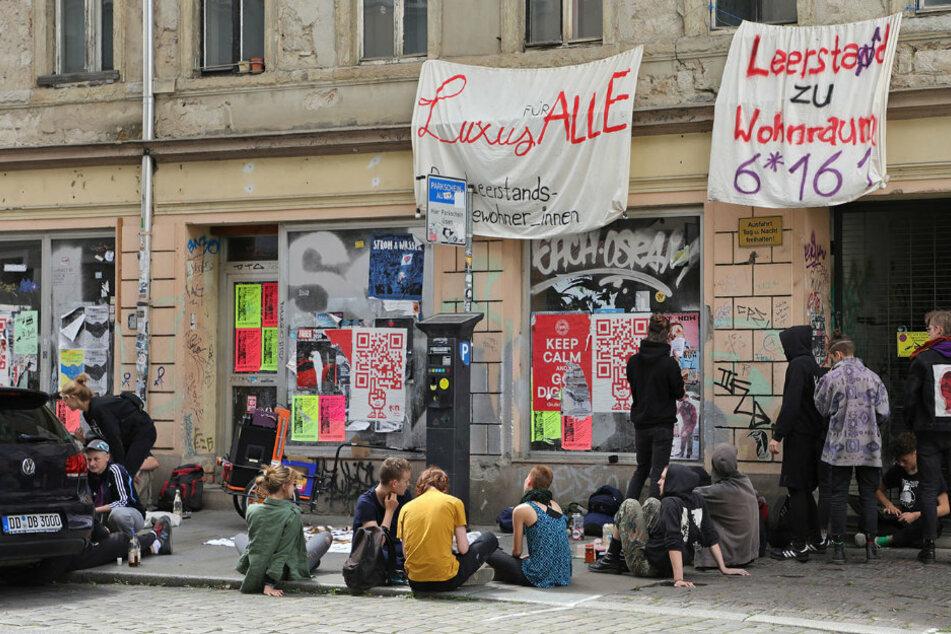 Besetzung in Dresden-Neustadt: Aktivisten haben eine wichtige Botschaft