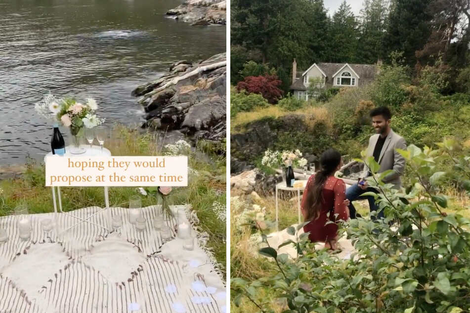 Great minds think alike! This romantic proposal took an unexpected turn