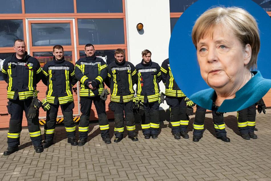 Merkel ruft Feuerwehrmann an, doch der legt einfach wieder auf!