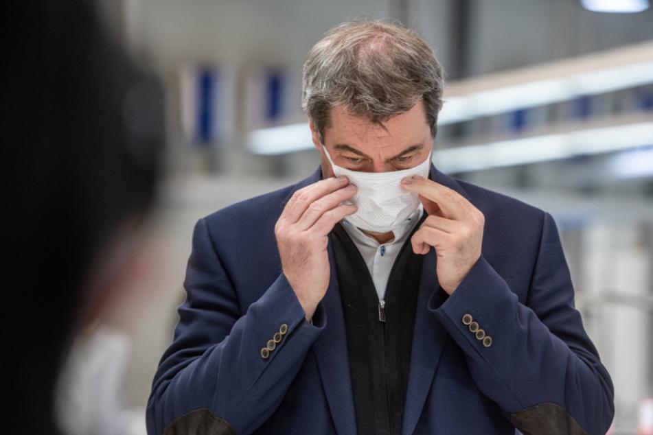 Markus Söder prophezeit Bedarf von Milliarden Masken für Deutschland