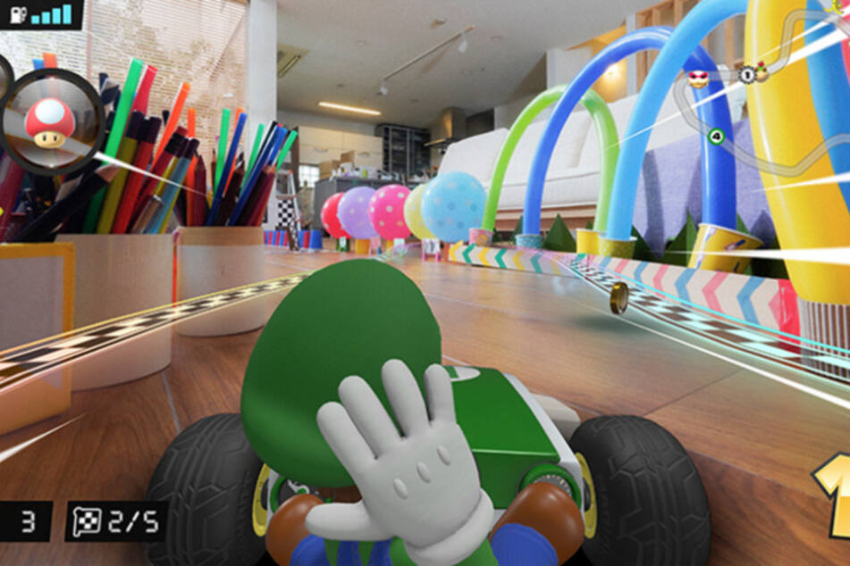 In der Luigi-Version steuert Ihr den Bruder des Klempners. Was die Dekoration der Strecke betrifft, sind der Fantasie keine Grenzen gesetzt.