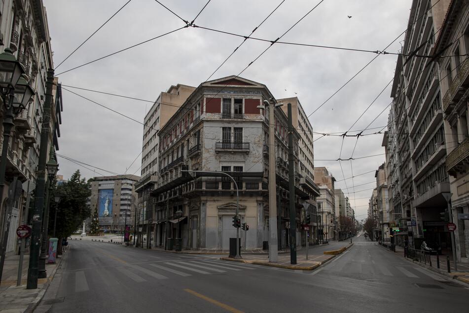 Griechische Straßen bleiben noch etwas länger leer: Der Lockdown wurde bis zum 18. Januar verlängert.