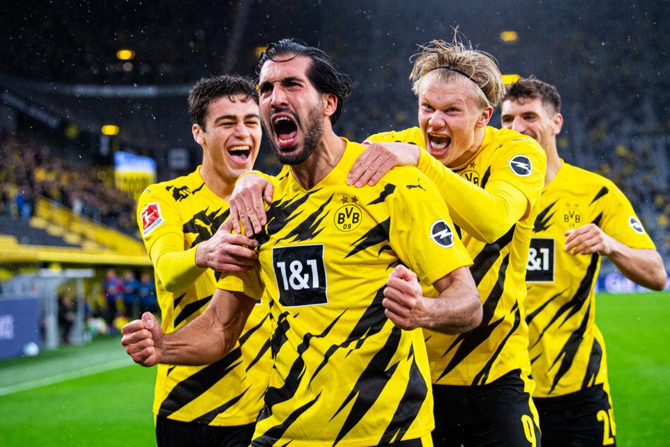 Es ist unwahrscheinlich, dass Borussia Dortmund Erling Haaland (20, 2.v.r.) und Giovanni Reyna (18, l.) abgibt. Vor allem dann nicht, wenn auch noch Jadon Sancho (20) den Klub verlassen sollte.