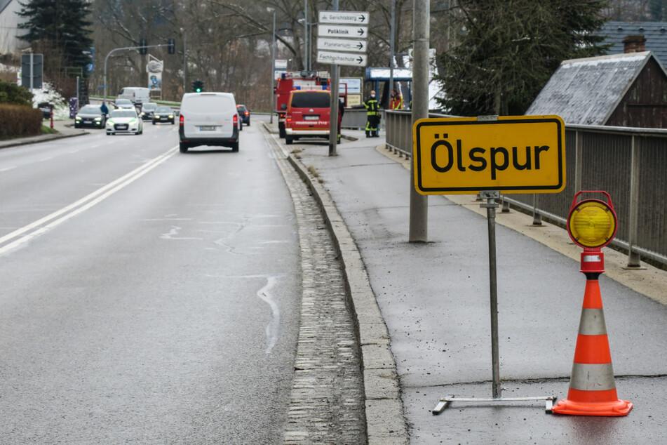 Schmierige Angelegenheit! Kilometerlange Ölspur von Aue bis nach Schneeberg