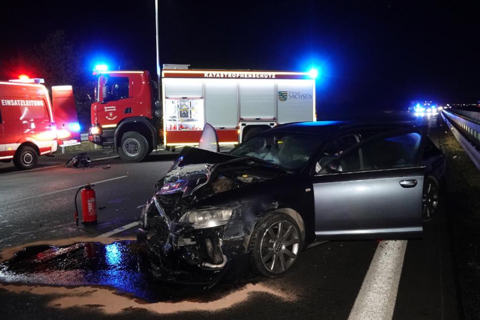 Der 26-jährige Fahrer des Audi konnte nicht mehr rechtzeitig ausweichen...