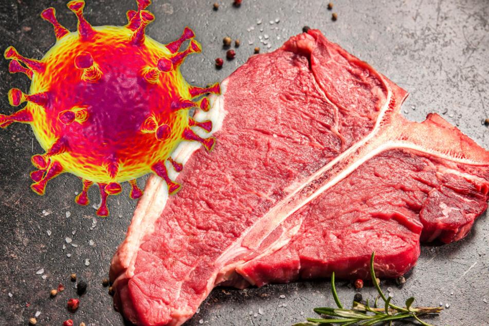 Fotomontage: Fleisch-Liebhaber können aufatmen: Bei der wissenschaftlichen Untersuchung von Fleisch wurden keine Spuren des Coronavirus entdeckt (Symbolbild).