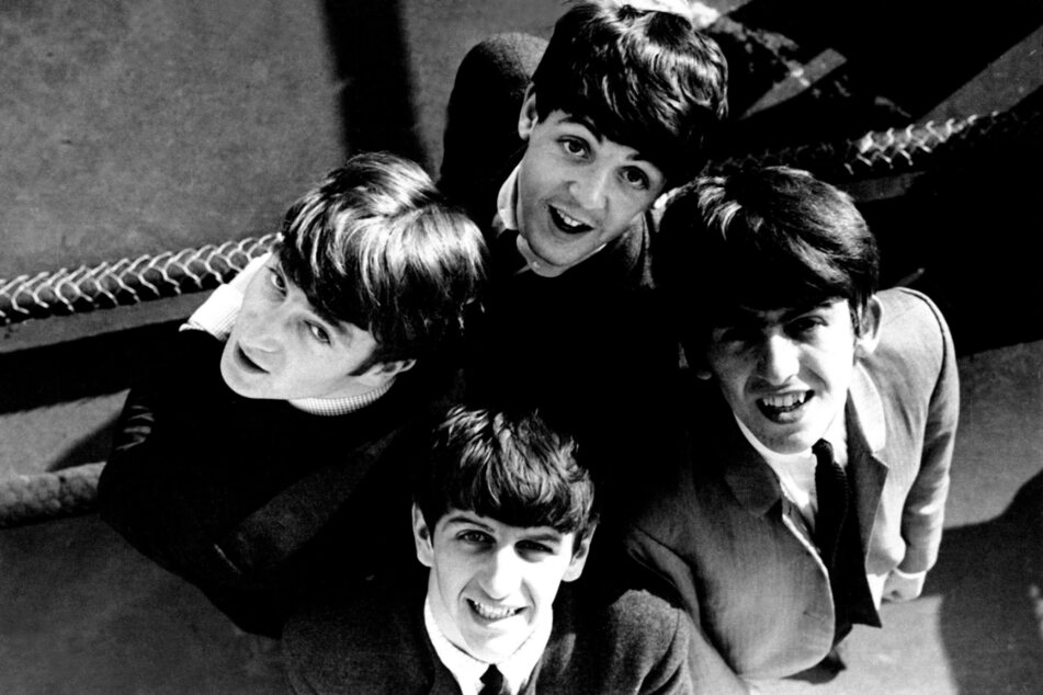 The Beatles, comprised of George Harrison (l), Ringo Starr (front), John Lennon (r) and Paul McCartney (top), are regarded as one of the most influential bands of all time.