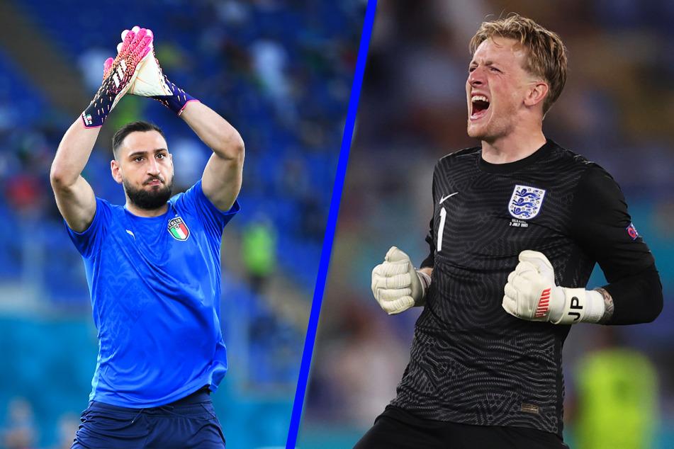 Italiens Berg von einem Keeper, Gianluigi Donnarumma (22, l.) und Englands starke Nummer eins Jordan Pickford (27) verfügen beide über viel Qualität.