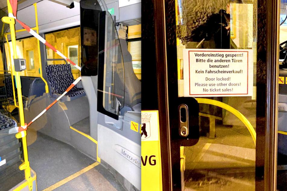 Ab Donnerstag dürfen Fahrgäste die vordere Bustür nicht mehr benutzen.