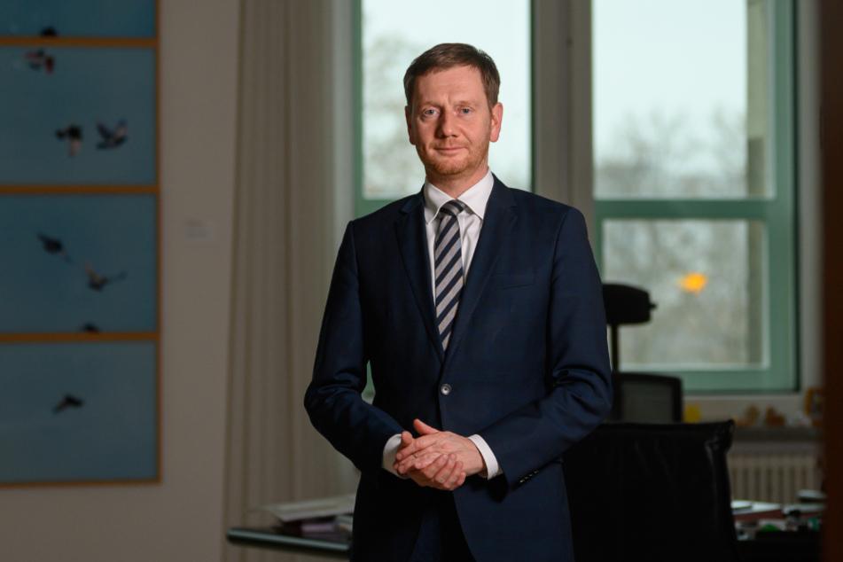 Michael Kretschmer (45) hat für seine Neujahrsansprache im MDR-Fernsehen sehr persönliche Worte gewählt.