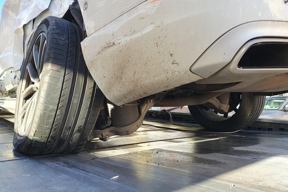 Der Volvo war nach dem Zusammenstoß nicht mehr fahrbereit.