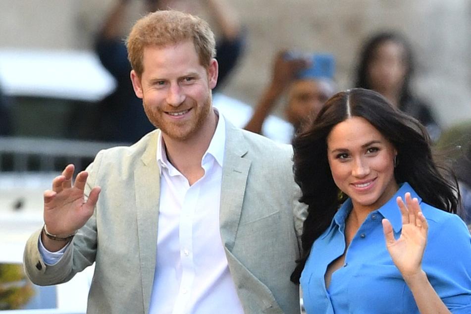 Meghan (39), Herzogin von Sussex, und Harry (36), Herzog von Sussex, während ihres Kapstadt-Besuchs 2019.
