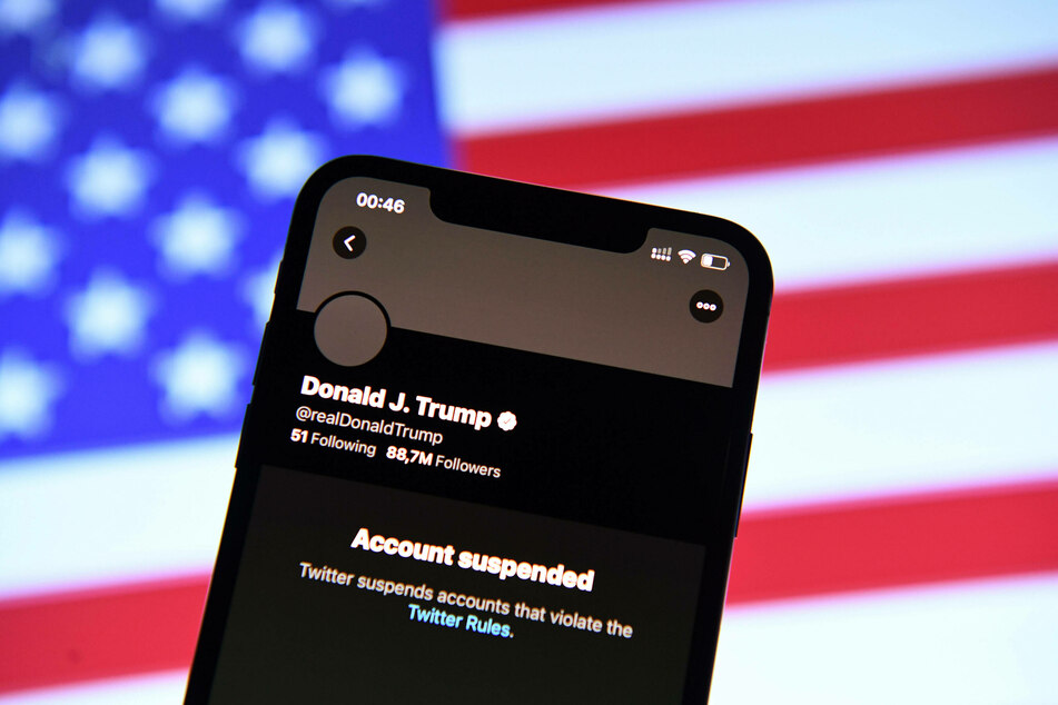 Donald Trump's personal Twitter account has been permanently suspended.