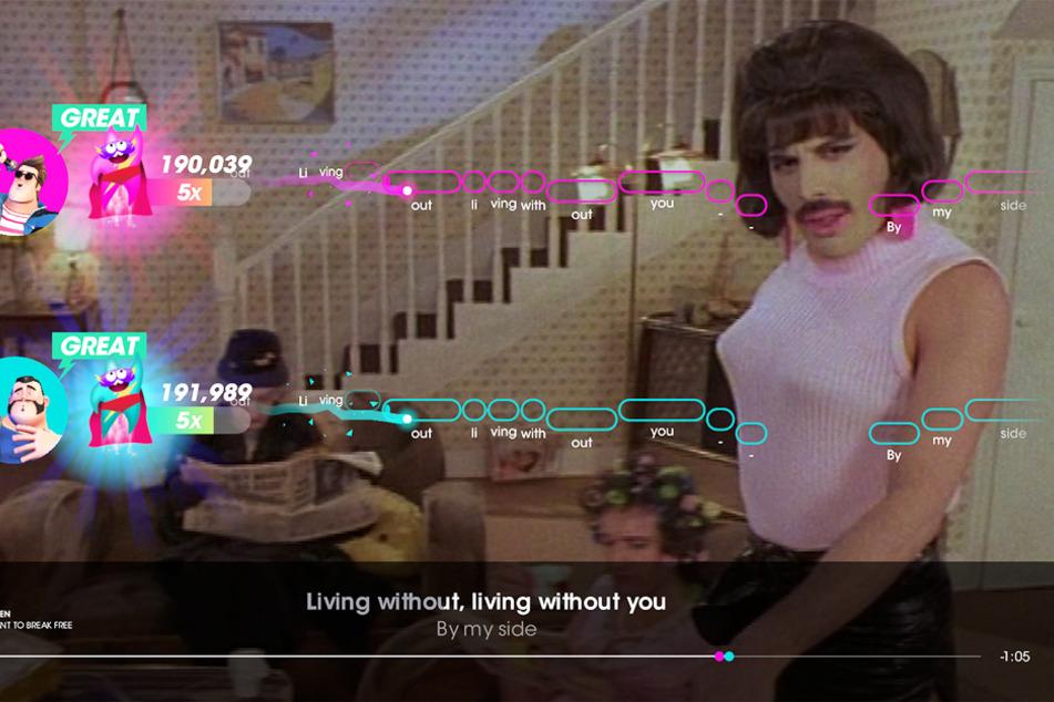 """Kult-Videos zu Kult-Songs: Auch an """"I Want To Break Free"""" können sich Nachwuchs-Freddies versuchen."""