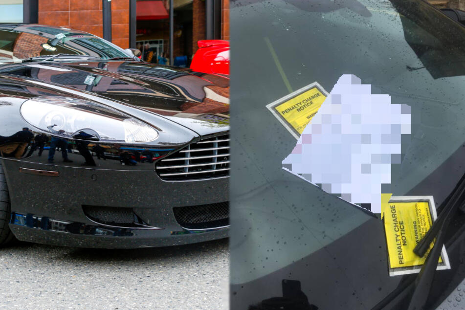 Residents annoyed by illegally parked Aston Martin take matters into their own hands