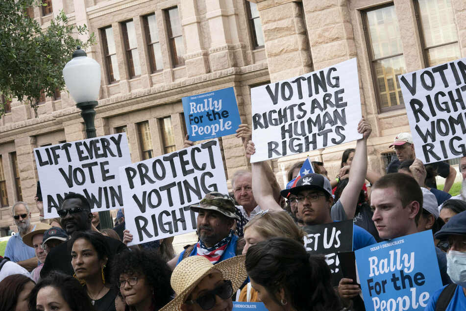 Texas Democrats walk out of Capitol and leave the state in effort to block restrictive voting bill