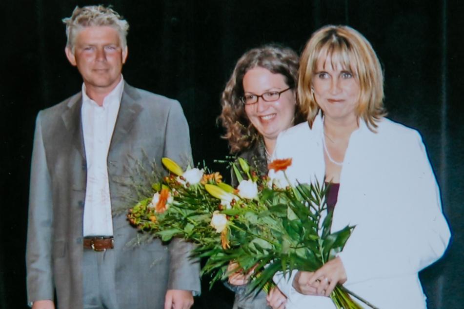 """Zusammen mit Valentina Marcenaro (Mitte) gründete Heike Jack (r.) die Agentur """"Kulturperlen"""". Ernst Dollwetzel moderierte 2005 die Start-up-Feier."""