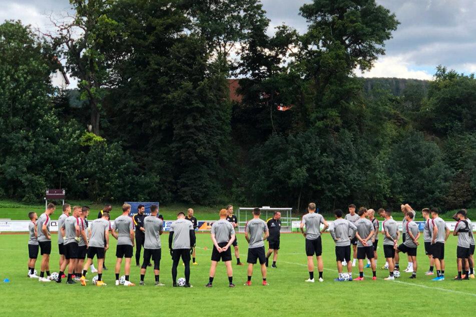 Für die Dynamo-Profis steht die nächste Trainingseinheit an.