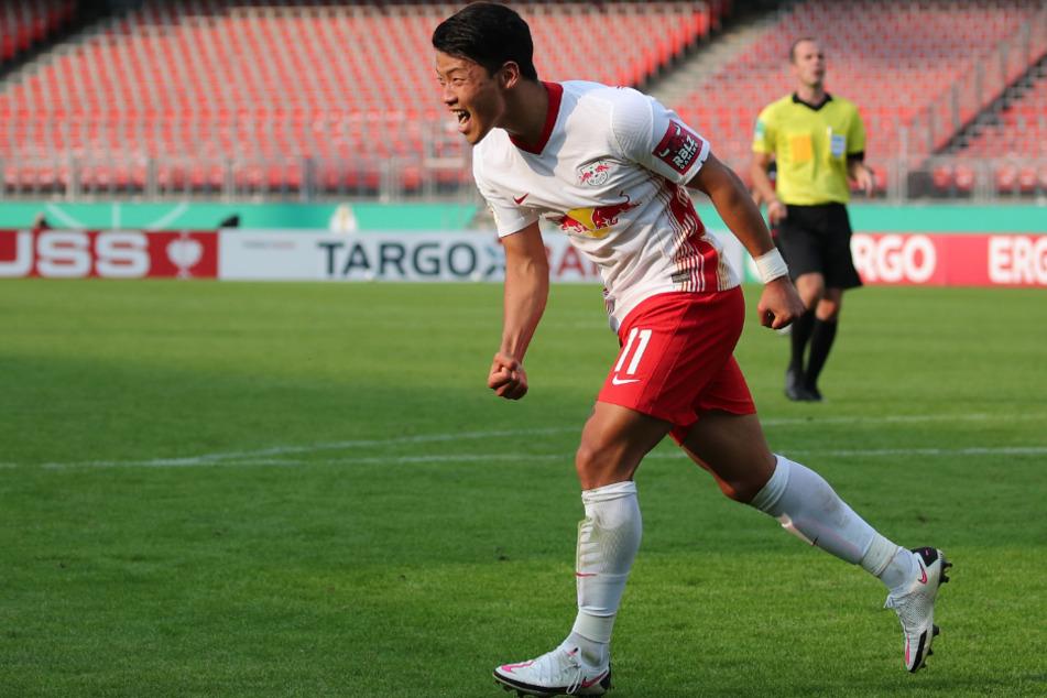 RB Leipzig Hee-chang Hwang befindet sich nach einem positiven Corona-Test nun in häuslicher Quarantäne.