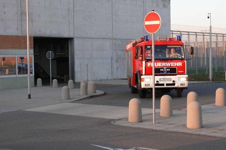 Die Feuerwehr war in der JVA im Einsatz.