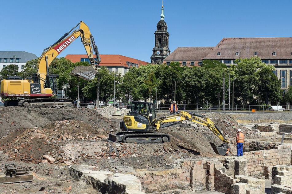 Dresden: Blei-Reste unter dem Ferdinandplatz entdeckt